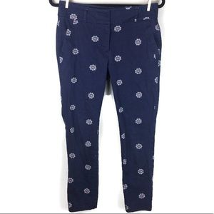 Loft Modern Skinny Ankle Mandala Print Pants